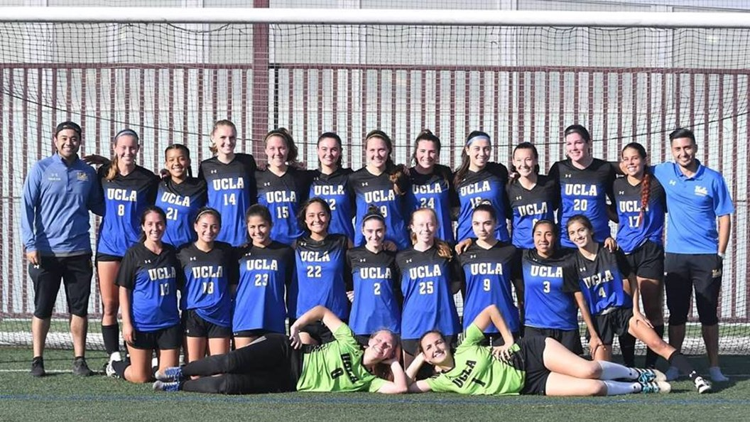 UCLA Womens Club Soccer Pose For A Team Photo After Their 1 0 Victory Over
